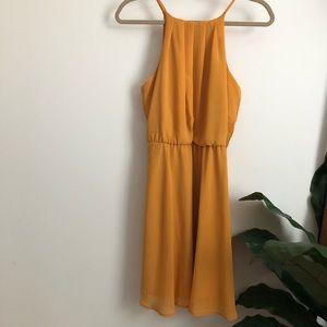 Like New Francesca's Mustard Yellow Dress